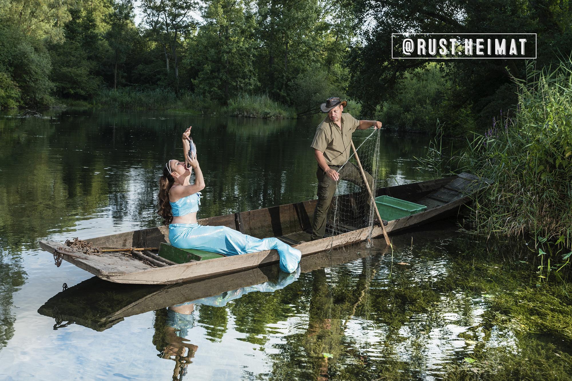 Kalenderbild Taubergiessen aus rust.heimat mit Taubergiessenjungfrau
